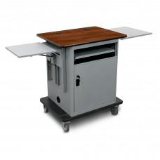 "Marvel Vizion  Instructor Series Teacher Workstation - Gold, 14""W x 14.5""D Adjustable Height Side Shelf, 16""W x 17.5""D Slow Close Shelf, Lockable Door."