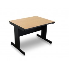 Marvel Vizion Rectangular Laminate Top Side Table with Modesty Panel - (Kensington Maple Laminate)