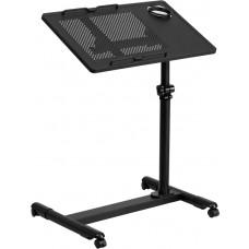 Black Adjustable Height Steel Mobile Computer Desk [NAN-JG-06B-BK-GG]