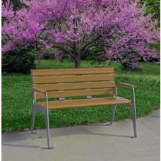 Plaza Bench - Cedar - 4 Foot