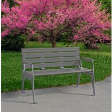 Plaza Bench - Gray - 4 Foot