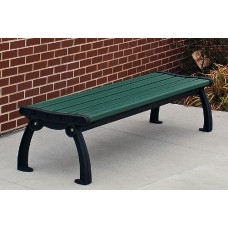 Heritage Backless Bench - Green - 4 Foot