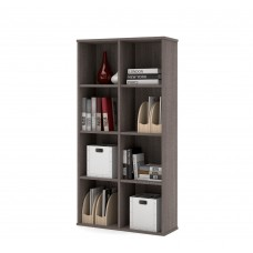 Dayton by Bestar Cubby Bookcase in Bark Gray