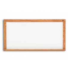 Pro-Rite 48x72 White porcelain markerboard, Red Oak Wood Trim