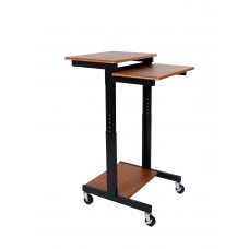 Luxor Teak Adjustable Height Presentation Workstation PS3945-T