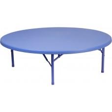 60'' Round Kid's Blue Plastic Folding Table [RB-60R-KID-BL-GG]