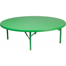 60'' Round Kid's Green Plastic Folding Table [RB-60R-KID-GN-GG]