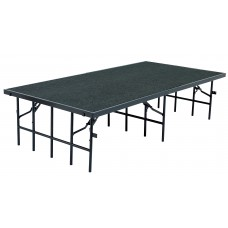 """Grey 48"""" x 96"""" Stages w/ Carpeted Surface"""