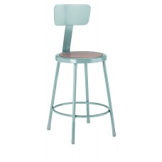 Steel Stool with Backrest