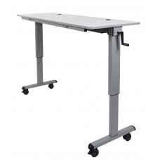 "Luxor STAND-NESTC-60 is a 60"" Adjustable flip top Table wih a Crank Handle"