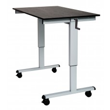 Luxor STANDCF48-AG/BO Crank Adjustable Stand Up Desk
