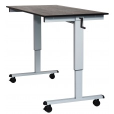 Luxor STANDCF60-AG/BO Crank Adjustable Stand Up Desk