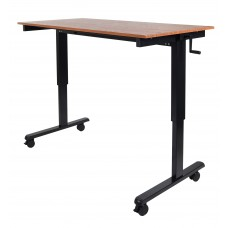 Luxor STANDCF60-BK/TK Crank Adjustable Stand Up Desk