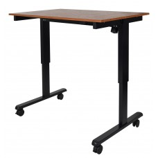 "Luxor STANDE-48-BK/TK 48"" Electric Standing Desk Black/Teak"