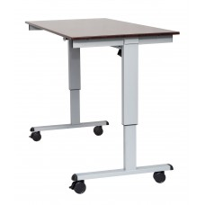 "Luxor STANDE-60  60"" Electric Standing Desk Gray/Walnut"