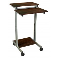 Luxor Stand Up Presentation Station - Walnut