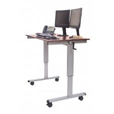"Luxor Standup-CF48-DW 48"" Crank Adjustable Stand Up Desk"