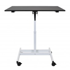 "Luxor single column crank stand up desk 23.625""D x 39.375""W x 30"" to 45.25""H"