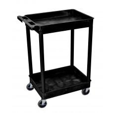 Luxor 2 Shelf Black Tub Cart