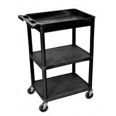 Luxor 3 Shelf Black Tub Cart