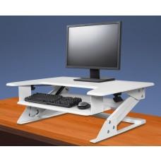 Desktop Riser Workstation Sit to Stand, White