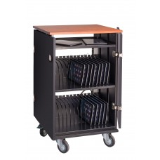 Tablet Charging/Storage Cart (Cherry/Black)