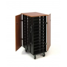 Tablet Charging/Storage Cart - 32 Tablet Capacity (Cherry/Black)