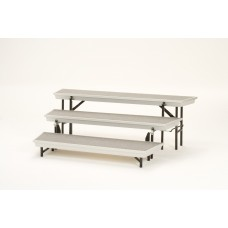 Grey Transport 3-Level Tapered Riser 18Wx72L Trans-Port Risers
