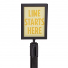 Sign holder for steel stanchions