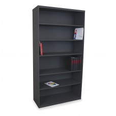 Heavy Duty 6 Shelf Cabinet, Black