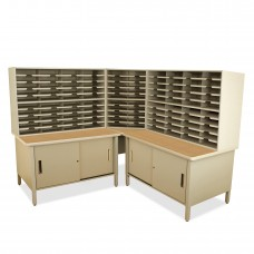 100 Slot Mailroom Organizer with Cabinet