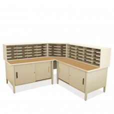 50 Slot Mailroom Organizer with Cabinet