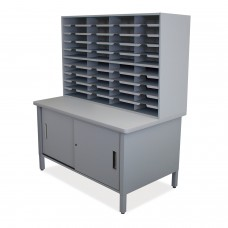 40 Slot Mailroom Organizer with Cabinet