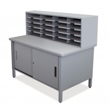 20 Slot Mailroom Organizer with Cabinet