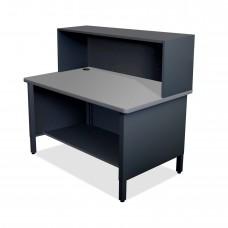Mailroom Utility Table, 1 Storage Shelf, Riser