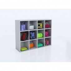 Whitney White 12 Cubby Backpack Storage Cabinet