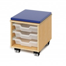Teachers Rolling Stool With Trays