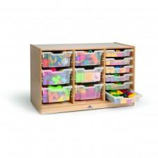 Clear Tray Triple Storage Cabinet