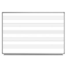 Luxor WB7248M 72 x 48 Wall-Mount Music Whiteboard
