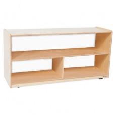 "Versatile Shelf Storage with Acrylic Back - 23-1/2""H"