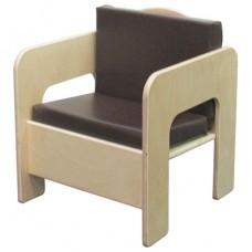 Chair with Brown Cushion