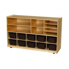 Versatile Storage with 10 Brown Trays