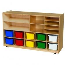 Versatile Storage with 10 Assorted Pastel Trays