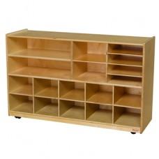Versatile Storage with 10 Purple Trays