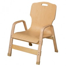 "Stacking Bentwood Plywood Teachers Chair - 12""H"