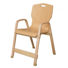 "Stacking Bentwood Plywood Chair - 18""H"