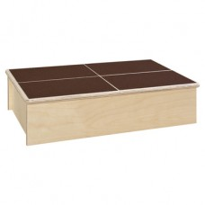Step Stool with Brown Tread
