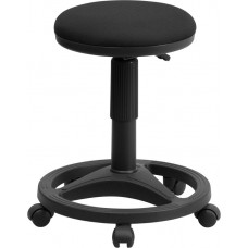 Black Ergonomic Stool with Foot Ring [WL-905DG-GG]