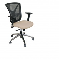 Executive Mesh Chair with Flax Fabric and Chrome Plated Base