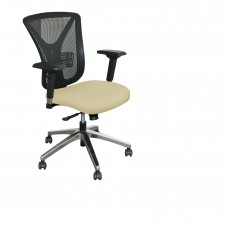 Executive Mesh Chair with Forsythia Fabric and Chrome Plated Base